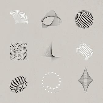 Verzameling van abstracte 3d-ontwerpelementen