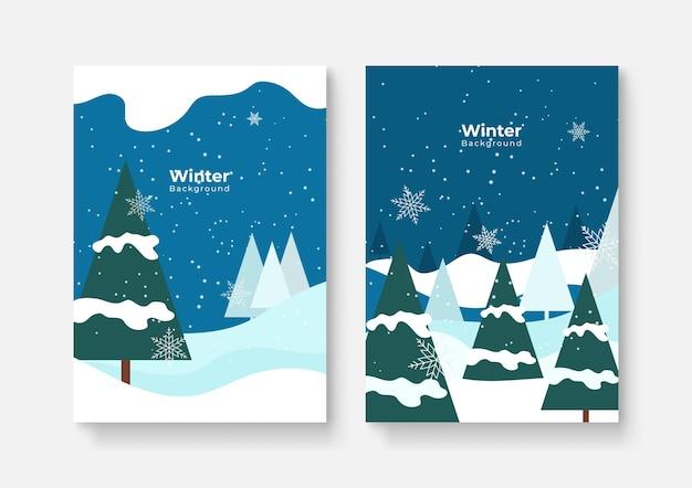 Verzameling van abstracte achtergrondontwerpen, winteruitverkoop, promotionele inhoud op sociale media. vector illustratie