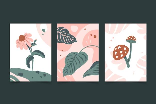 Verzameling van abstracte handgetekende covers