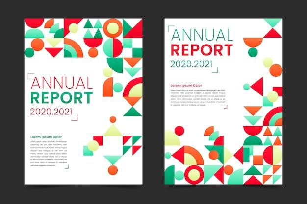 Verzameling van abstracte jaarverslagsjablonen