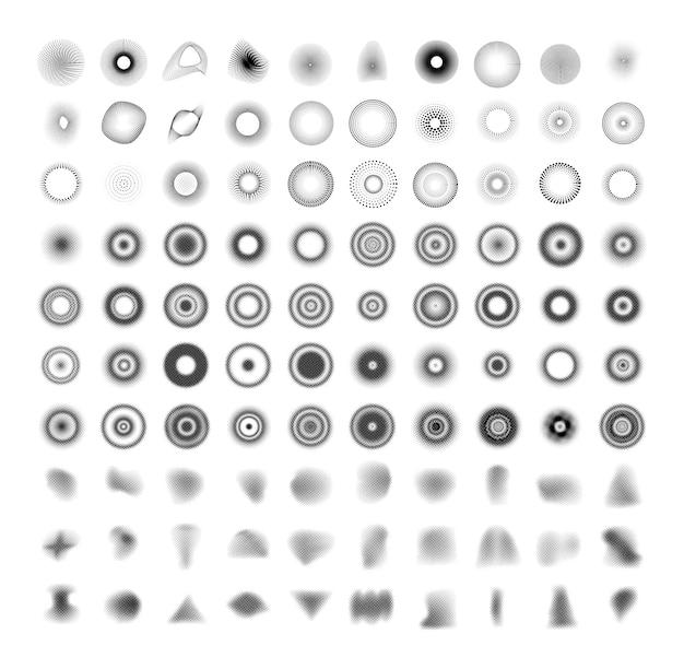 Verzameling van abstracte stipstructuren