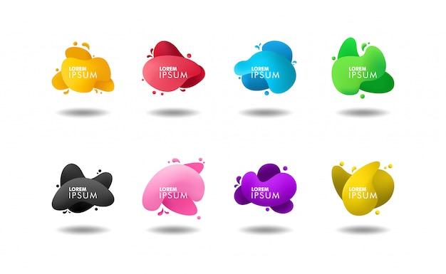 Verzameling van abstracte vloeibare kleur banner