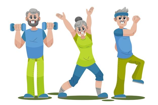 Verzameling van actieve ouderen
