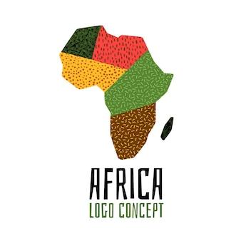 Verzameling van afrika logo sjabloon