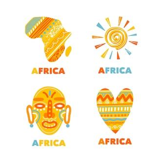 Verzameling van afrikaanse logosjablonen