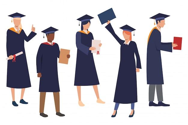 Verzameling van afstuderende studenten