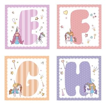 Verzameling van alfabetletters voor kinderen