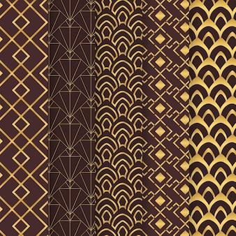 Verzameling van art deco-patroon