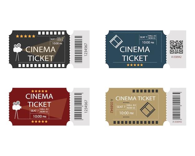 Verzameling van bioscoopkaartjes