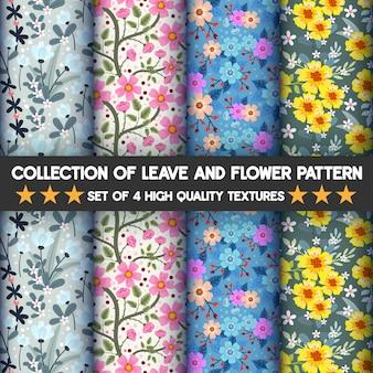 Verzameling van bloem- en bladerenpatronen