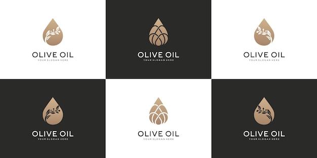 Verzameling van bloemen logo-ontwerp