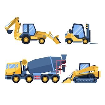 Verzameling van bouwmachines