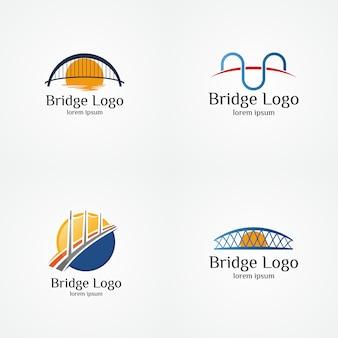 Verzameling van brug logo vector illustratie sjabloon