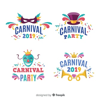 Verzameling van carnaval-labels