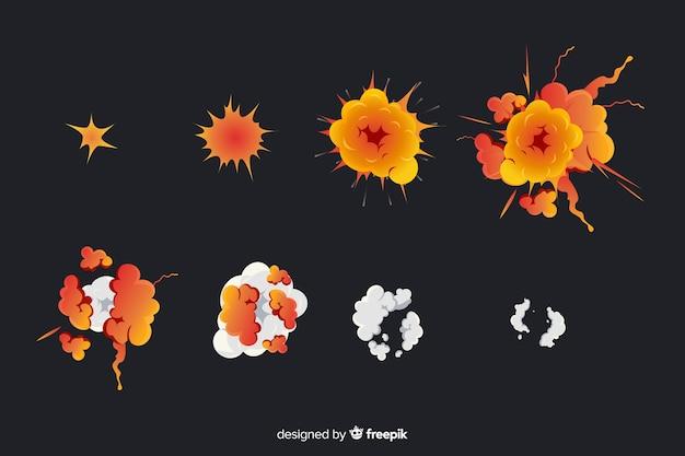 Verzameling van cartoon explosie-effecten