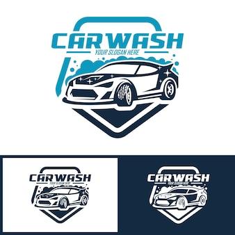 Verzameling van carwash logo sjabloon