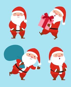 Verzameling van christmas santa claus