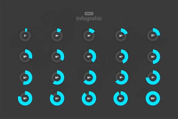 Verzameling van circle loading geïsoleerd op grijs