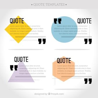 Verzameling van citaat met polygonale vormen