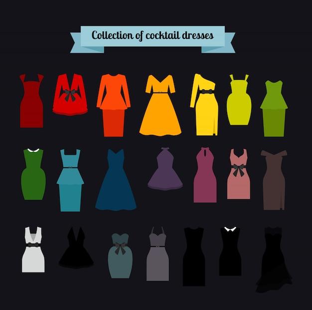 Verzameling van cocktail jurken