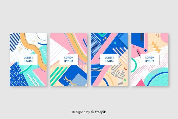 Verzameling van covers in memphis-stijl