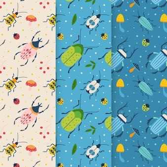 Verzameling van creatieve bugpatronen