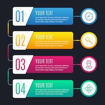Verzameling van creatieve infographic stappen