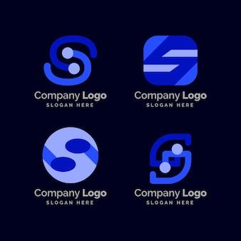 Verzameling van creatieve platte s-logo's