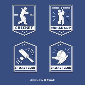 Verzameling van cricket-labels