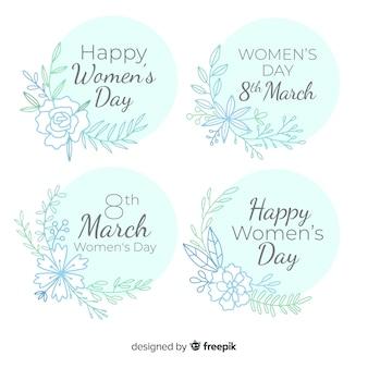 Verzameling van de dag van de vrouw labels