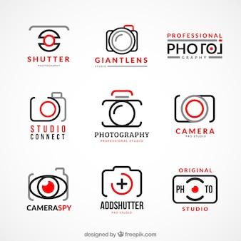 Verzameling van de fotografie logo