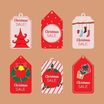 Verzameling van de prijs van de kerst winter tag