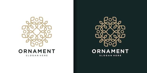 Verzameling van decoratieve logo-sjablonen