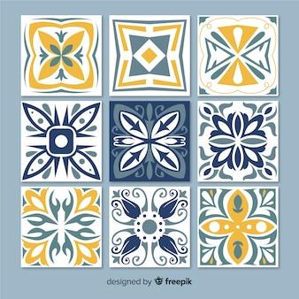 Verzameling van decoratieve tegels