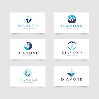 Verzameling van diamantlogo's voor bedrijf