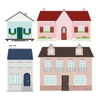 Verzameling van diverse huizen
