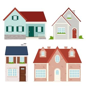 Verzameling van diverse mooie huizen