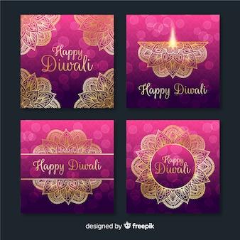 Verzameling van diwali festival instagram post