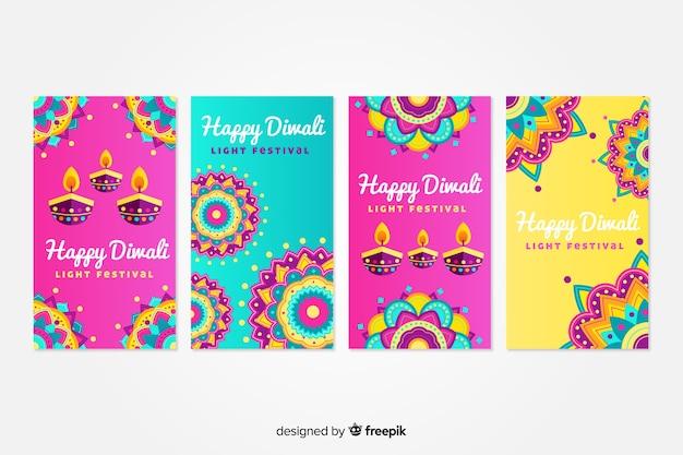Verzameling van diwali instagram-berichten