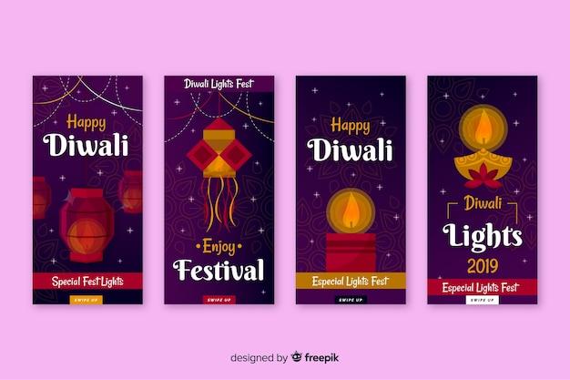 Verzameling van diwali instagramverhalen