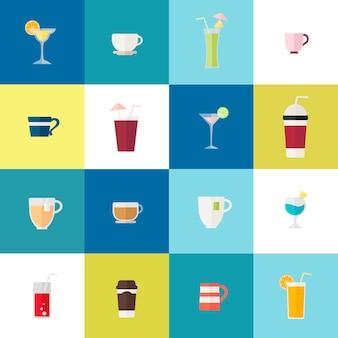 Verzameling van drankvectoren