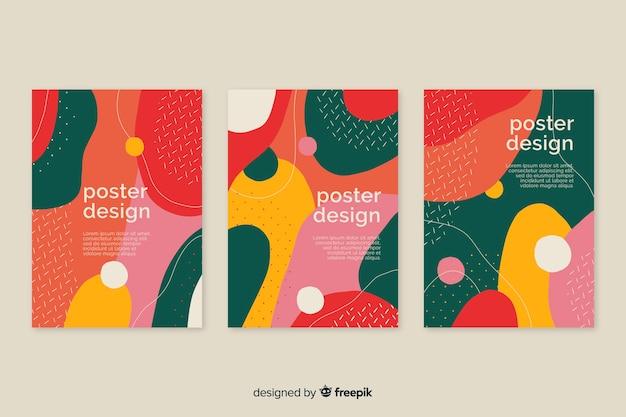Verzameling van dynamische postersjablonen