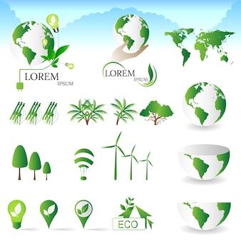 Verzameling van ecologie pictogrammen