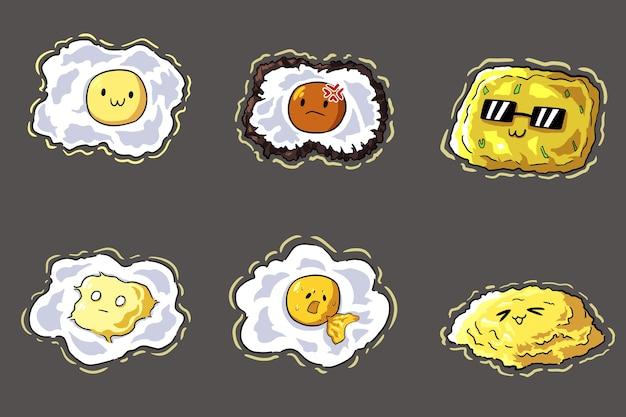 Verzameling van ei-illustraties
