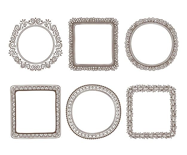 Verzameling van elegante sierlijsten