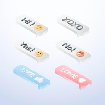 Verzameling van emoticons voor sociale media