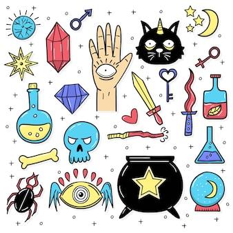 Verzameling van esoterische elementen