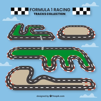 Verzameling van f1 race tracks