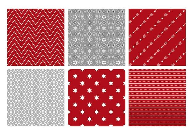 Verzameling van feestelijke geometrische patronen vectorillustratie