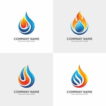 Verzameling van flame logo sjabloon
